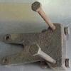 Unimog 406/416 rear PTO bracket that carries the rear lagerbock at the rear crossmember. Fair used, needs paint. $40.