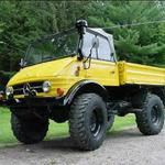 My first Unimog. The new owner painted it yellow.